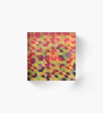 Rombos oleo Acrylic Block