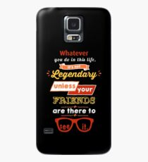 Legendary - Barney Stinson Quote (Orange) Case/Skin for Samsung Galaxy