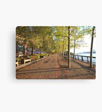 Hoboken Promenade on the Hudson River Canvas Print
