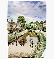 The Cotswolds: Watercolour Poster