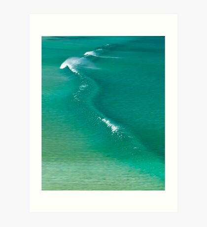 The crystal wave Art Print