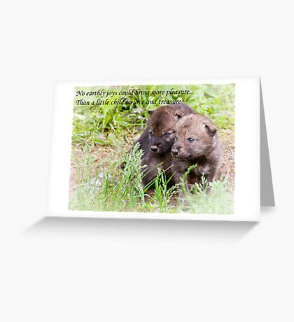Baby Card - Timber Wolf 3 Greeting Card