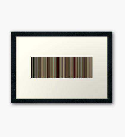 Moviebarcode: Run Lola Run (1998) [Simplified Colors] Framed Print