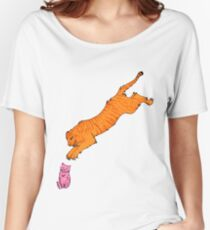 Sabre Toothed Tiger vs Kitten Women's Relaxed Fit T-Shirt