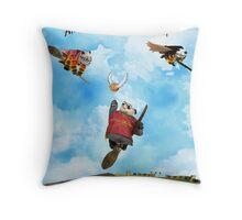Hairy Panda Throw Pillow