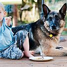 A Boy and His Dog by David Friederich