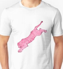 Pink Sabre-Toothed Tiger Jump T-Shirt