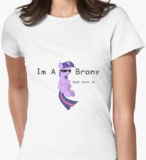 I'm a Brony Deal with it. (Twilight Sparkle) - My little Pony Friendship is Magic Women's Fitted T-Shirt