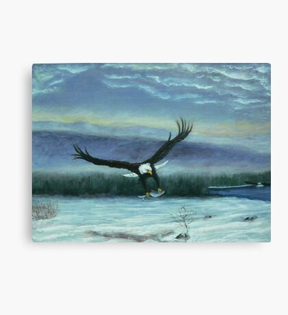 Eagle in flight Canvas Print