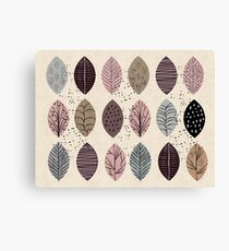Nature Inspired Leaves  Canvas Print