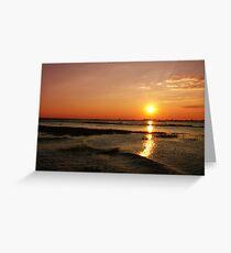 Sun Down Chobe River Greeting Card