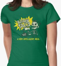 Brain Tacos Women's Fitted T-Shirt