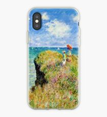 Claude Monet - Walk on the Cliff at Pourville iPhone Case