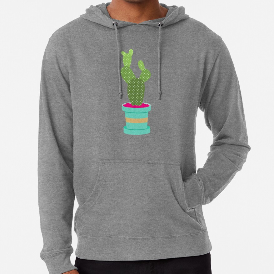 Friendly Cactus Lightweight Hoodie