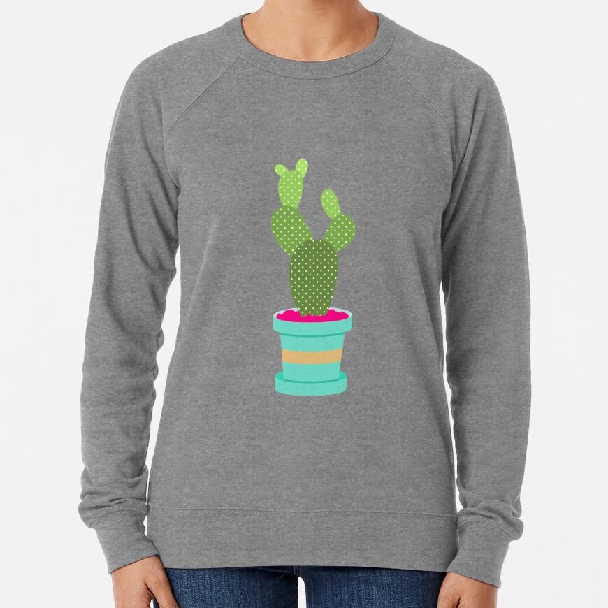 Friendly Cactus Lightweight Sweatshirt