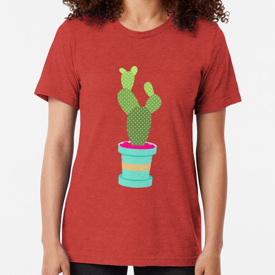 Friendly Cactus Tri-blend T-Shirt