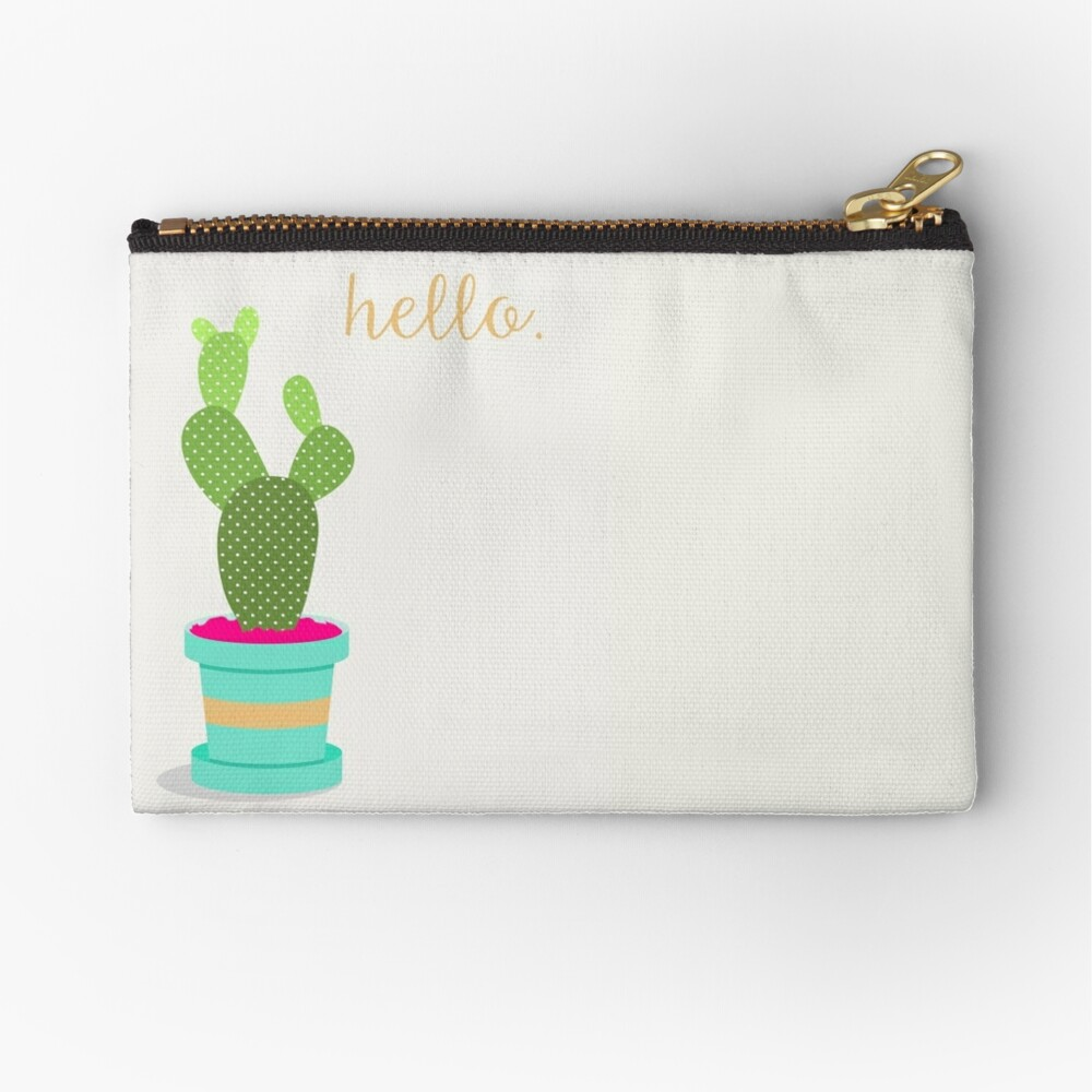 Friendly Cactus Zipper Pouch