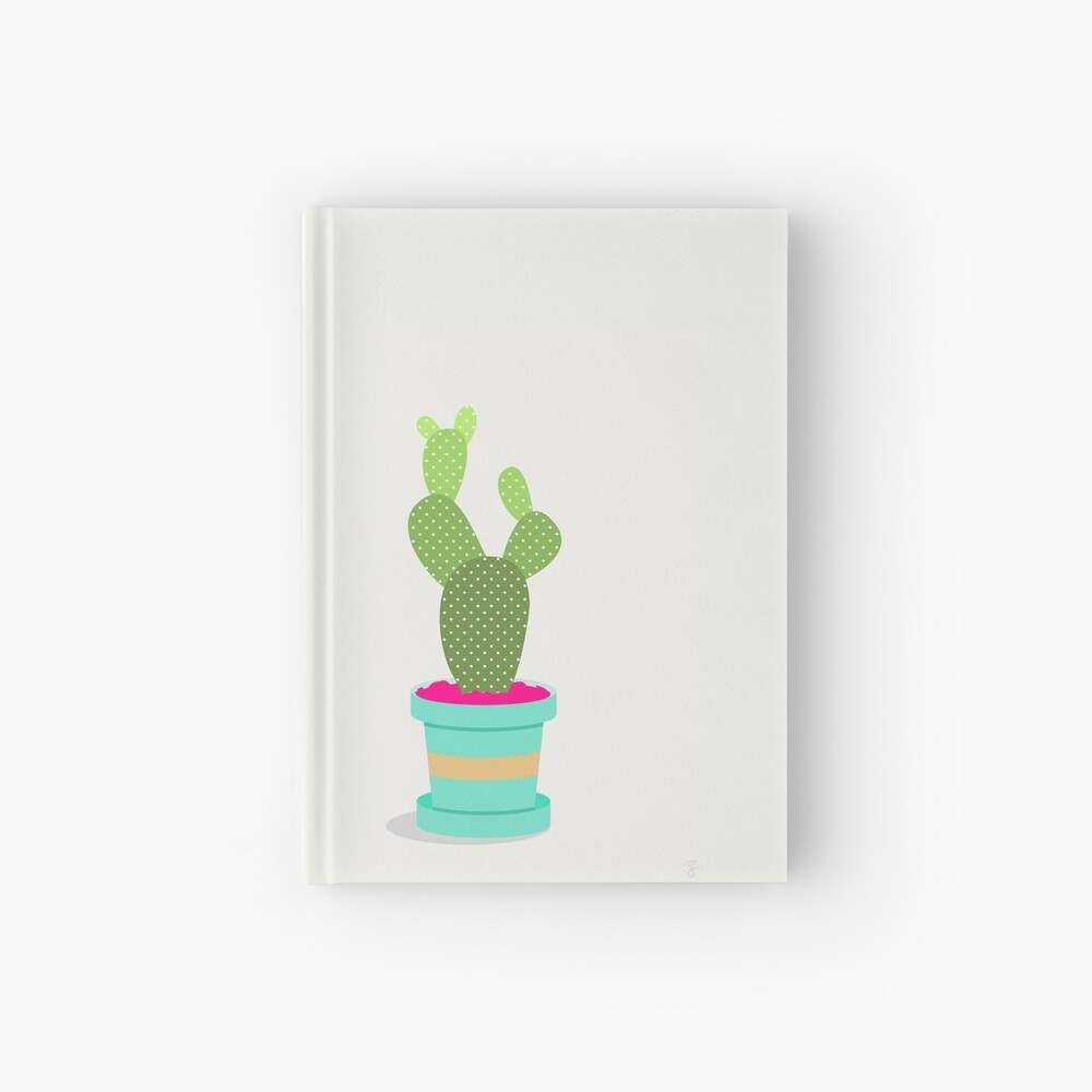 Friendly Cactus Hardcover Journal