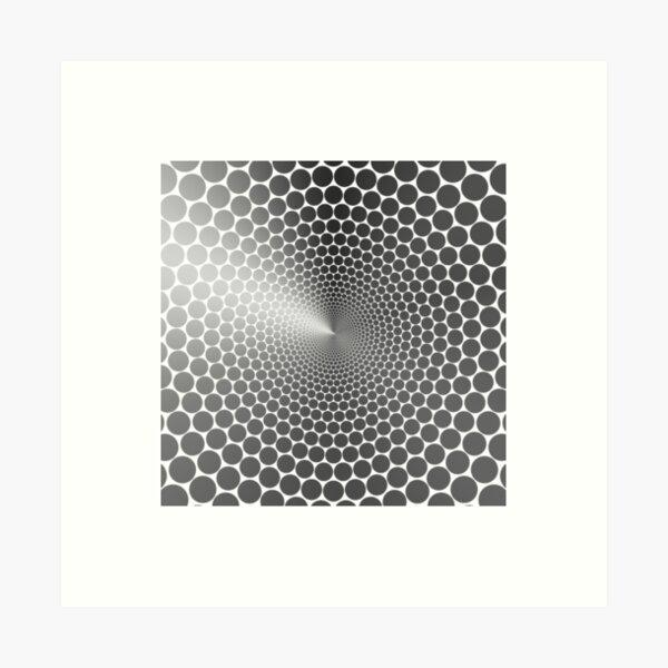 Optical Illusion Angle Gradient on White NOIR Art Print