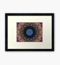The Dark Forest II - Blue, Green, Purple Kaleidoscope Framed Print