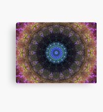 The Dark Forest II - Blue, Green, Purple Kaleidoscope Canvas Print