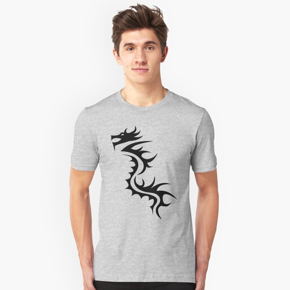 Dragon Tribal Unisex T-Shirt Front
