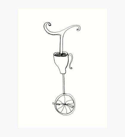 cup of whimsy tea Art Print