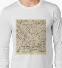 World War II Twelfth Army Group Situation Map July 24 1945 Long Sleeve T-Shirt