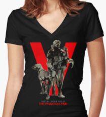 The Phantom Pain Women's Fitted V-Neck T-Shirt