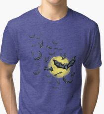 Bat Swarm (Shirt) Tri-blend T-Shirt
