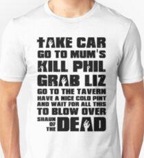 Shaun of the Dead To Do List Unisex T-Shirt