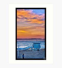 Sunset in Redondo Beach Art Print