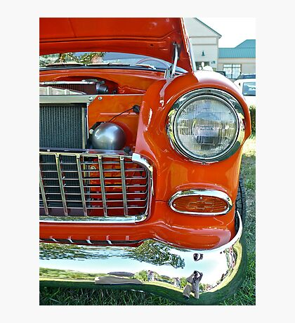 Red 55 Chevy Photographic Print