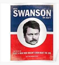 Vote Ron Swanson Poster