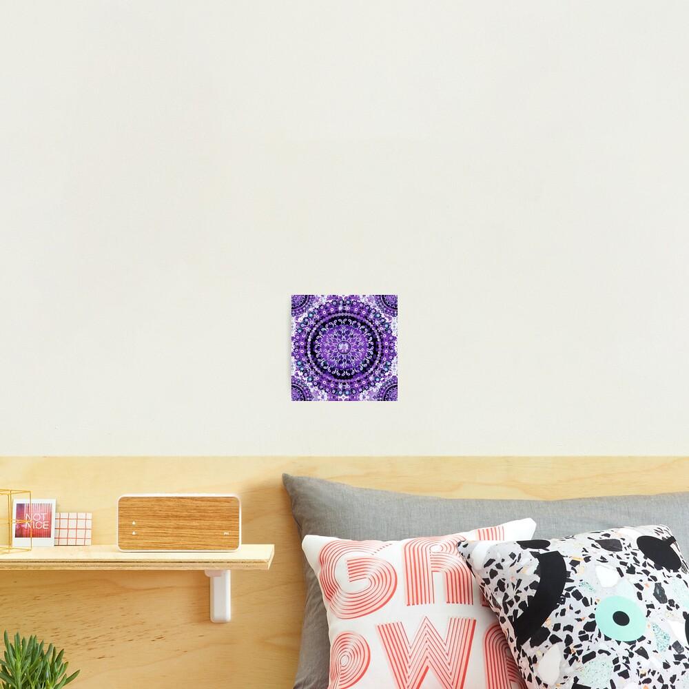Boho Mosaic Mandala Purple Photographic Print