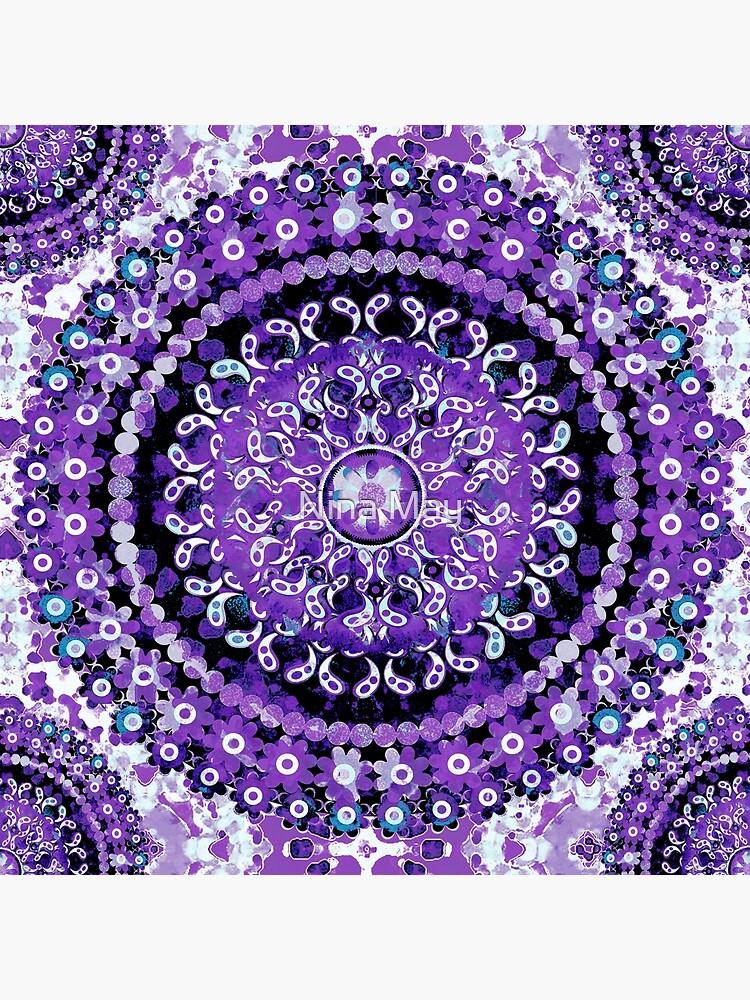 Boho Mosaic Mandala Purple by ninabmay