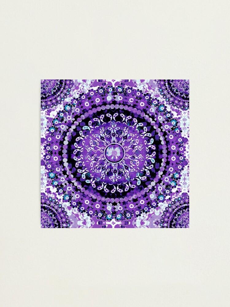 Alternate view of Boho Mosaic Mandala Purple Photographic Print