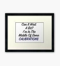 Calibrations (Garrus Mass Effect) Framed Print