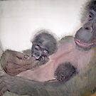 Mother & Twins  No. 2 by Heidi Mooney-Hill