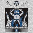Castle Crashers - Heraldry of the Blue Knight by Bratwurst !