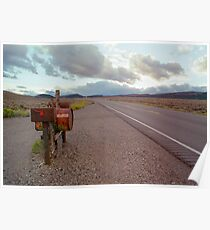 Lonely Hwy 50, Nevada Poster