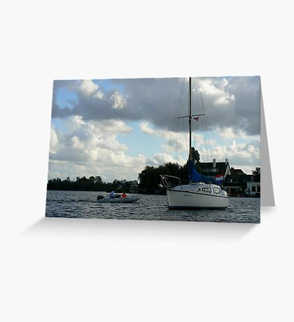clouds tranquilty... Greeting Card