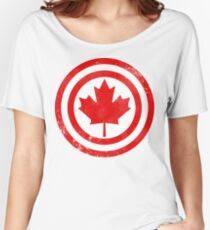 Captain Canada (Distressed) Women's Relaxed Fit T-Shirt