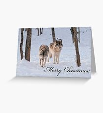 Christmas Card - Timber Wolf Greeting Card