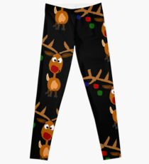 Legging Awesome Rudolph Red Nosed Reindeer Christmas Art