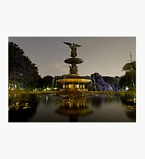 Bethesda Fountain, Central Park Photographic Print