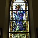 Jesus window from Parish church of St. Bartholomew. by Lee d'Entremont