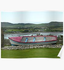 A Retired Boat Beside The Water Poster