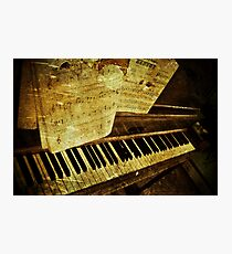 Grungy Piano Photographic Print