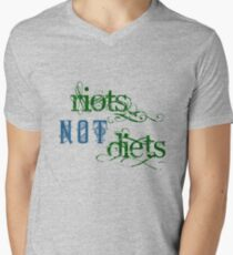 Riots Not Diets (Green and Blue) Men's V-Neck T-Shirt